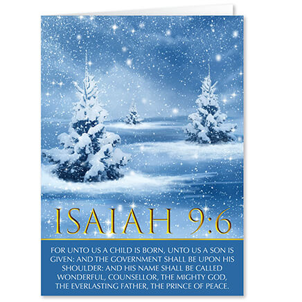 Christmas cards holiday cards greeting cards walter drake personalized isaiah 96 christmas cards set of 20 364063 m4hsunfo