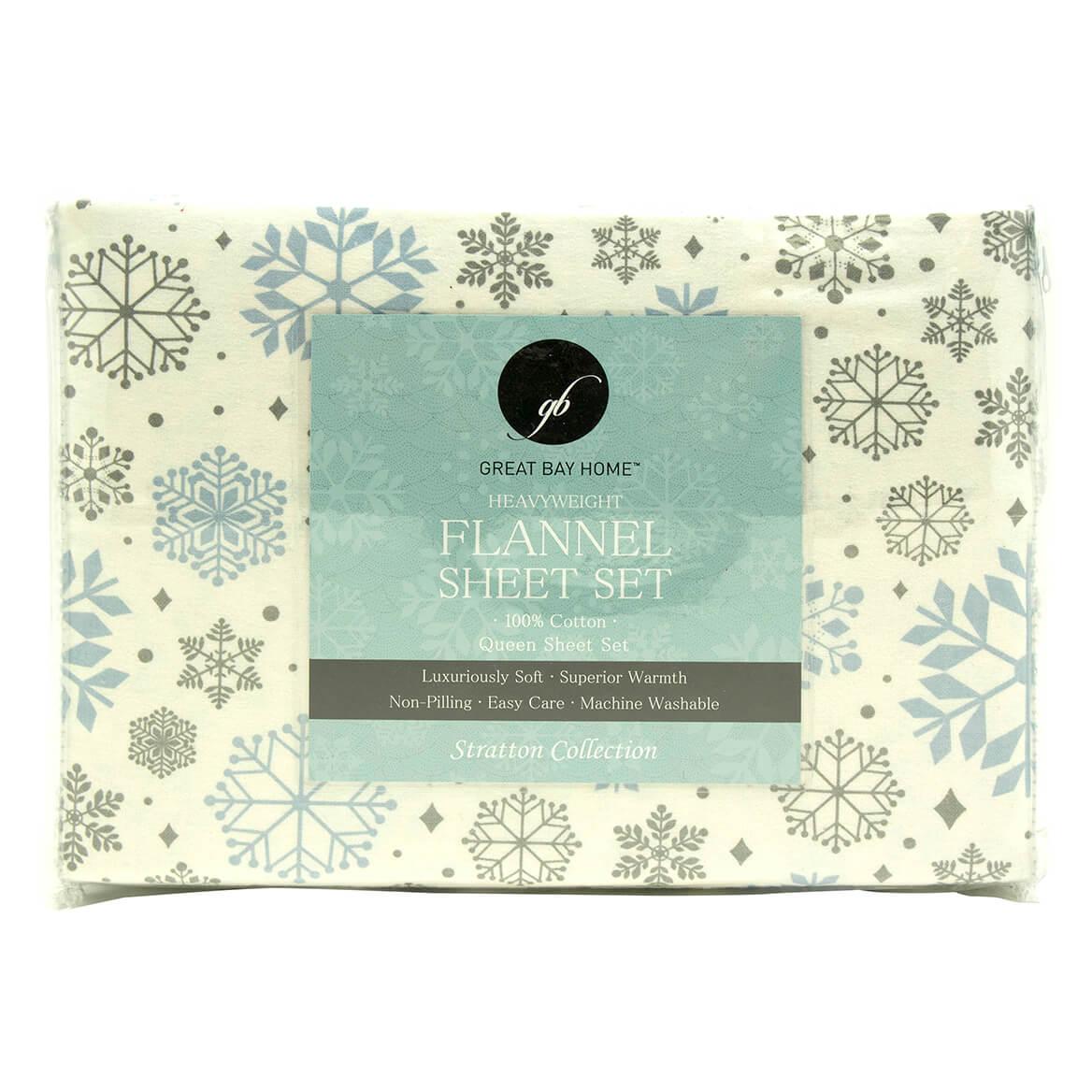 Printed 100% Cotton Flannel Sheet Set-364180