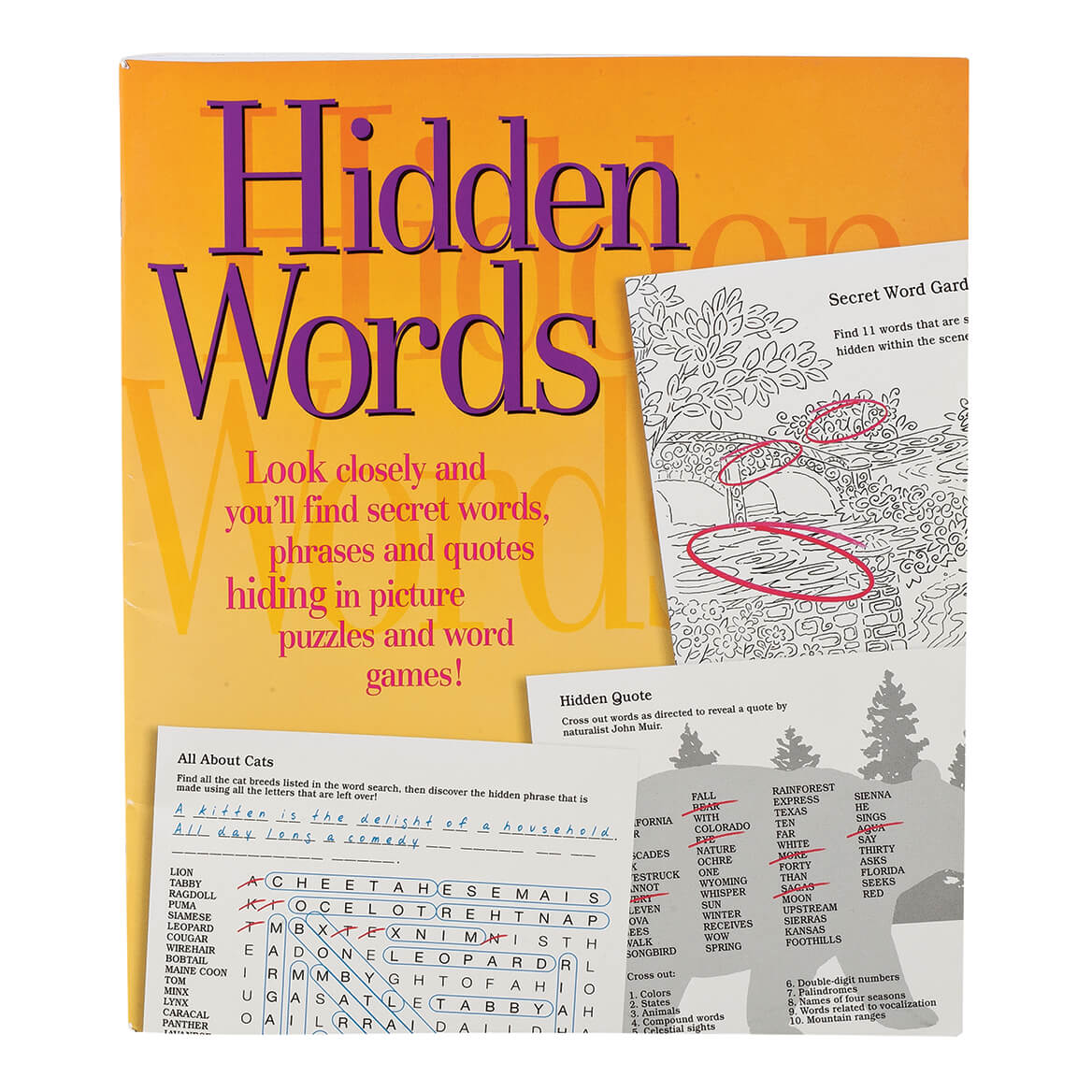 Hidden Words Puzzle Book Word Search Books For Adults Walter Drake