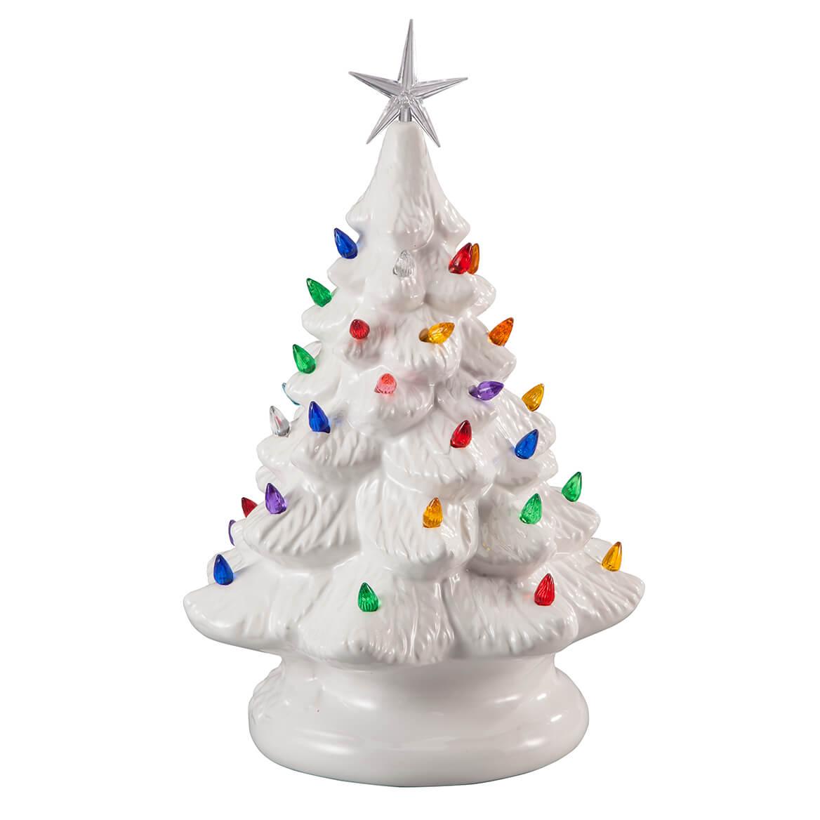 White Ceramic Christmas Tree.White Ceramic Tree