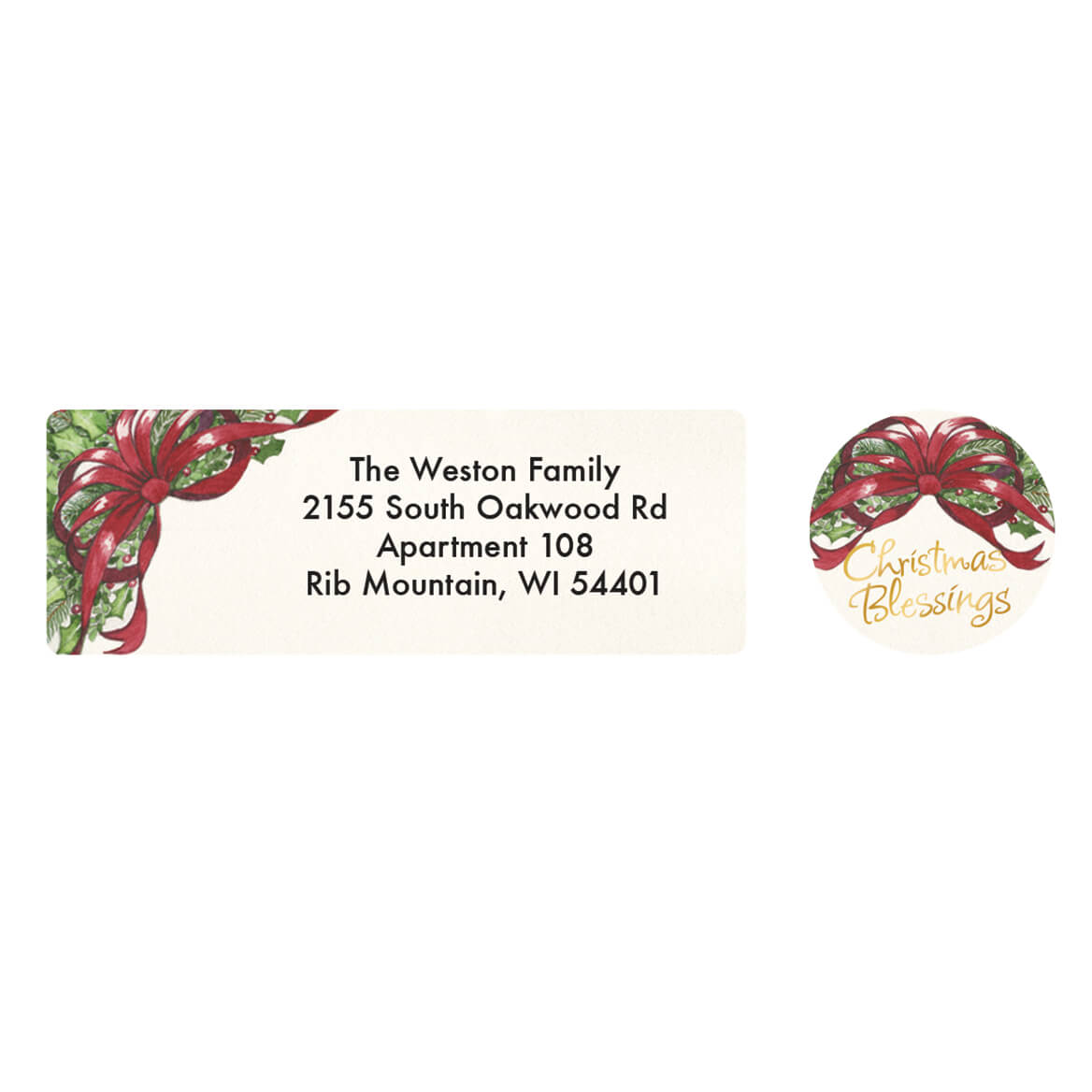 Personalized Christmas Blessings Address Labels & Seals 20-364709