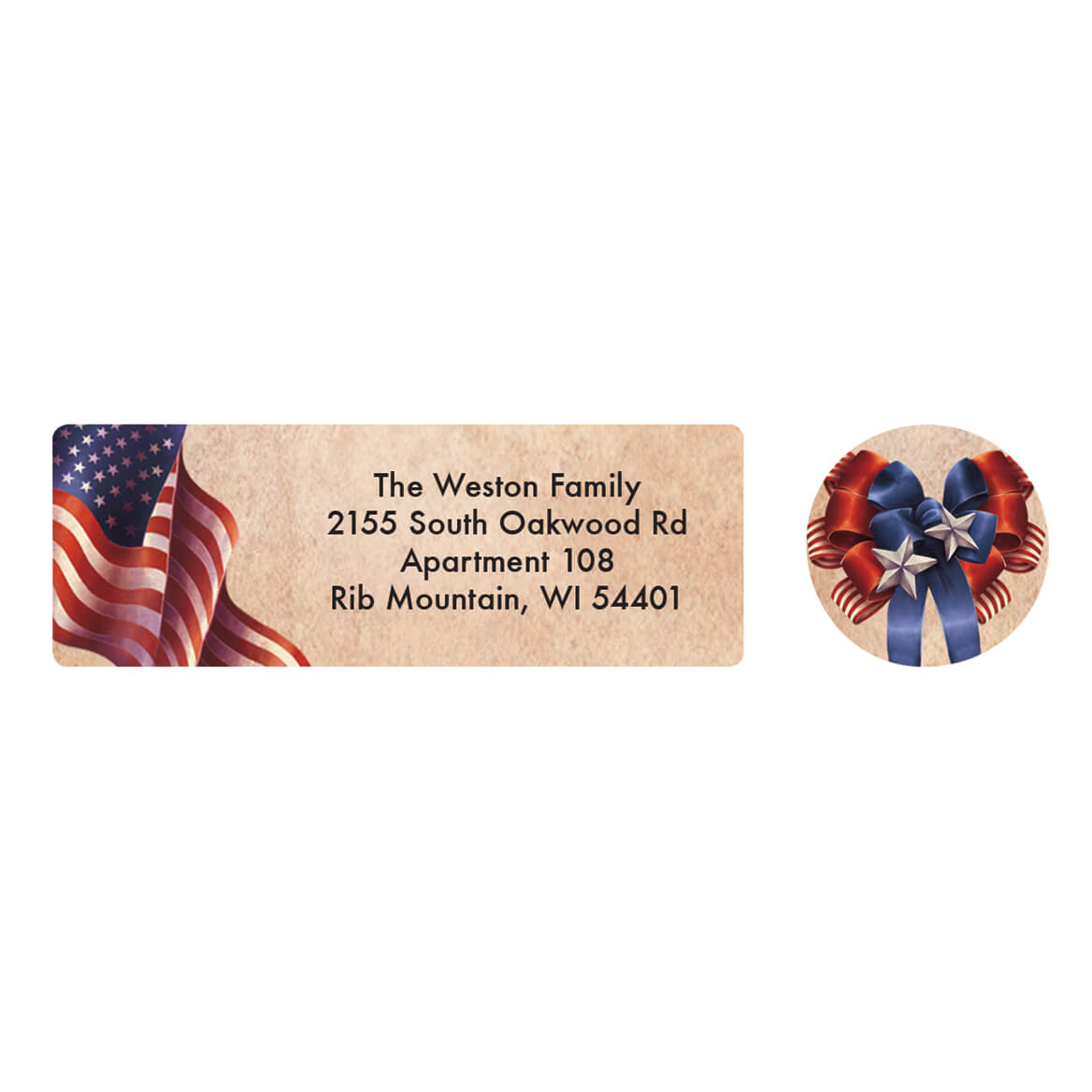 Personalized Patriotic Blessings Address Labels & Seals 20-364723