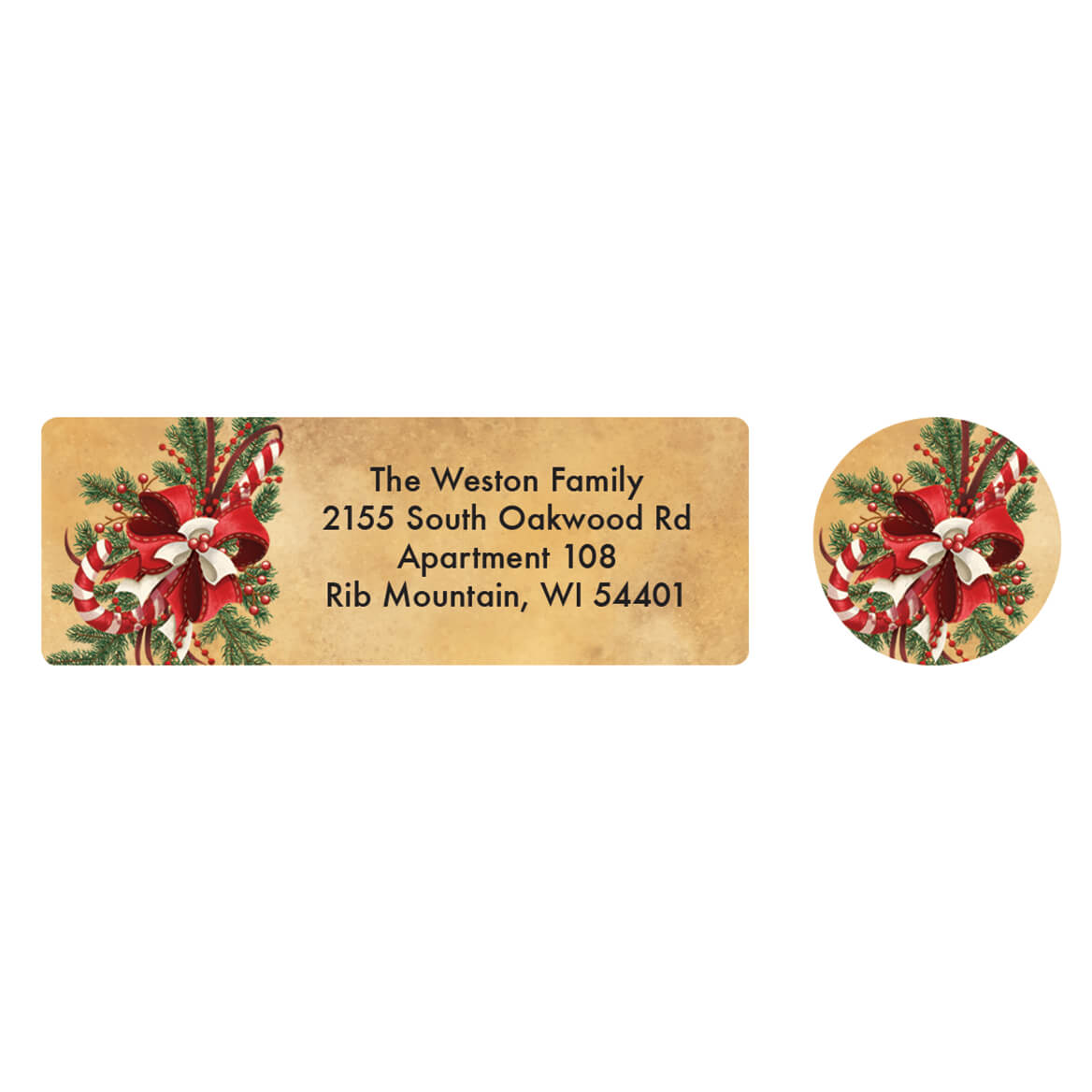 Personalized Legend of the Candy Cane Address Lab & Seal 20-364734
