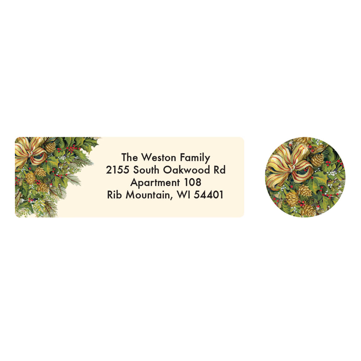 Personalized Christmas Greenery Address Labels & Seals 20-364756