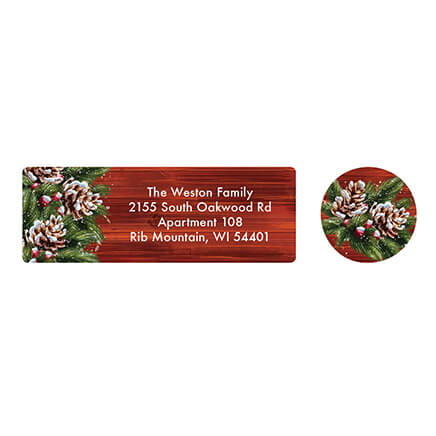 personalized christmas joy address labels seals 20 364760 - Decorative Christmas Labels