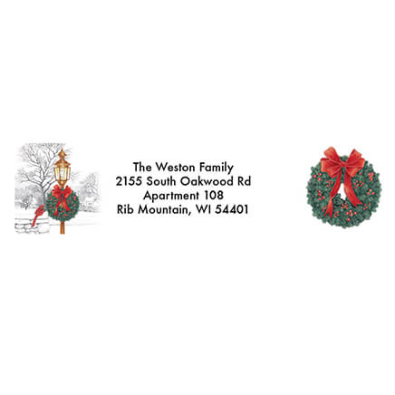 christmas labels and seals christmas address labels walter drake