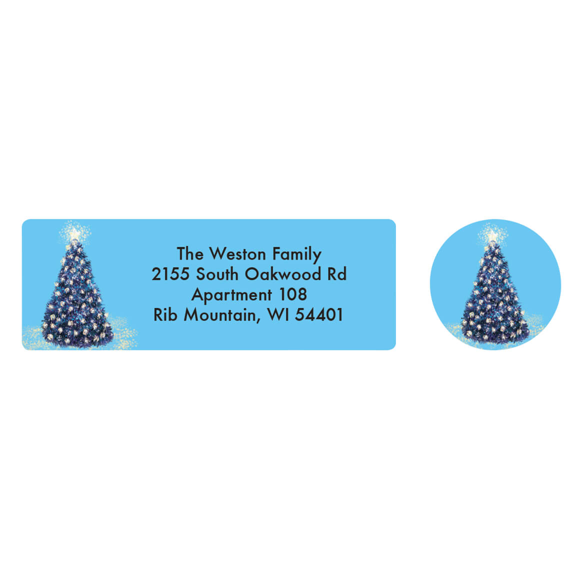 Personalized Christmas Glow Address Labels & Seals 20-364775