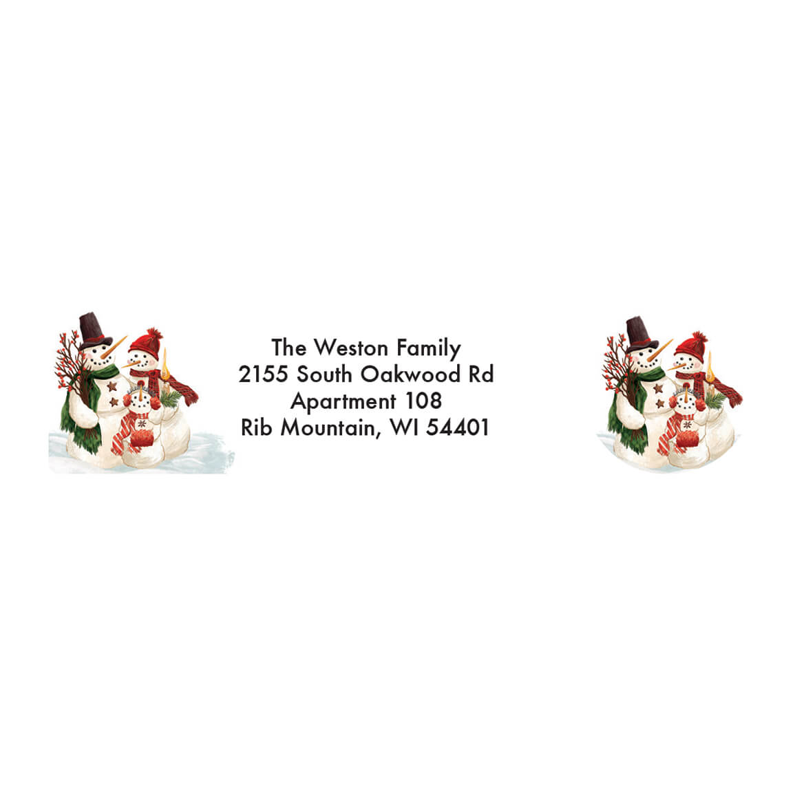 Personalized Calico Snowman Address Labels & Seals 20-364776