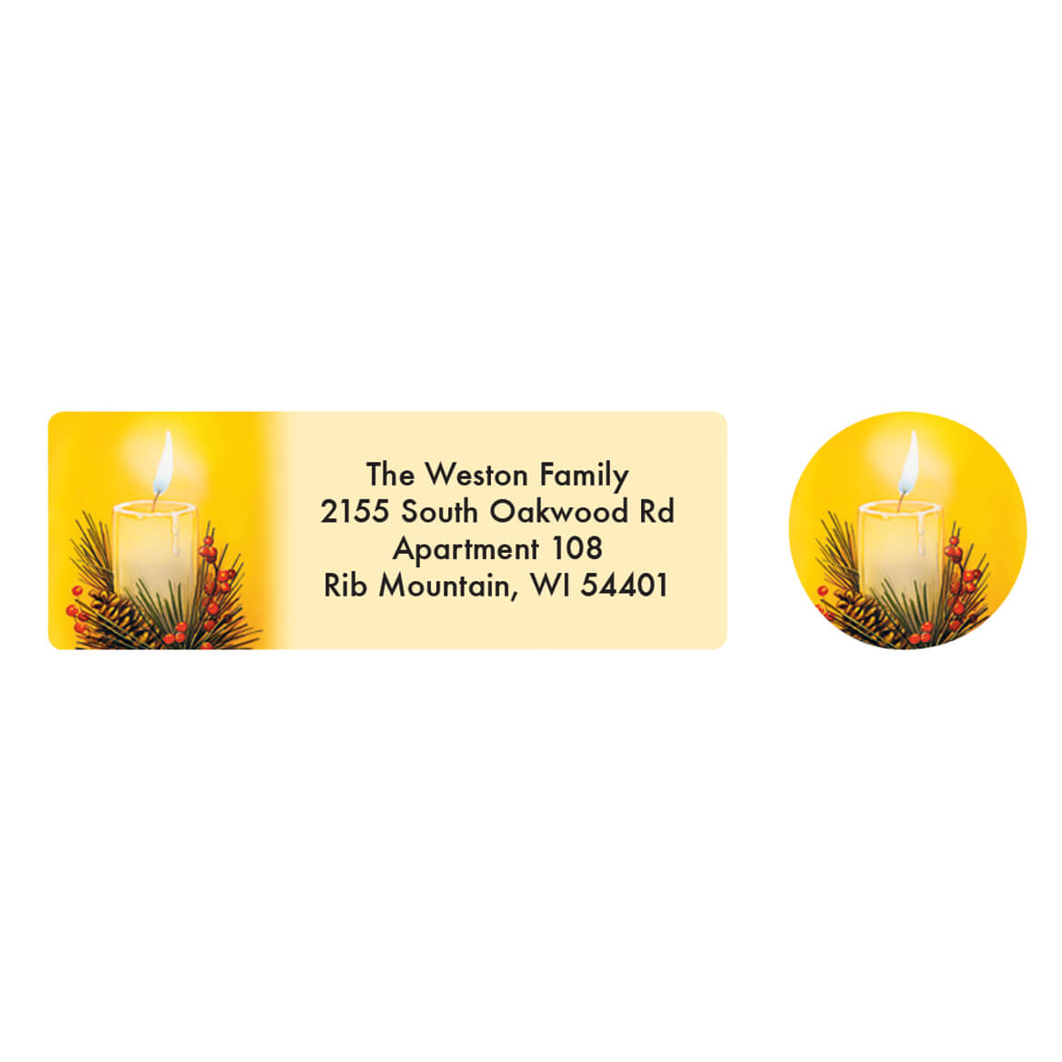 Personalized Reflections of Christmas Labels & Seals 20-364779