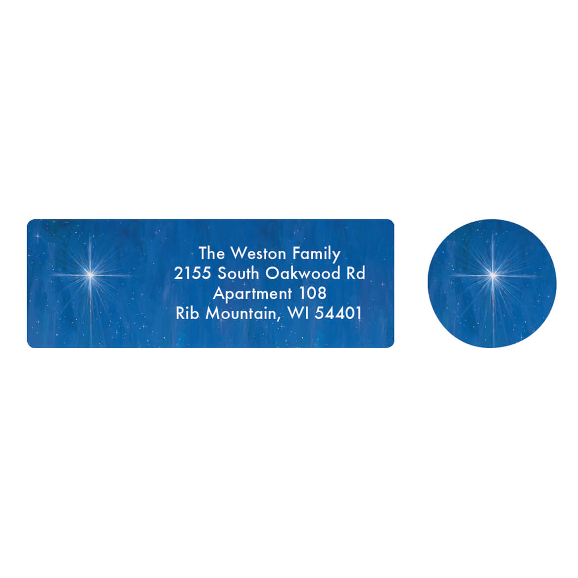 Personalized The Star Still Shines Address Labels & Seals 20-364794