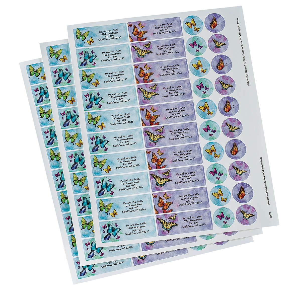 Personalized Butterflies Labels & Seals 60-365590