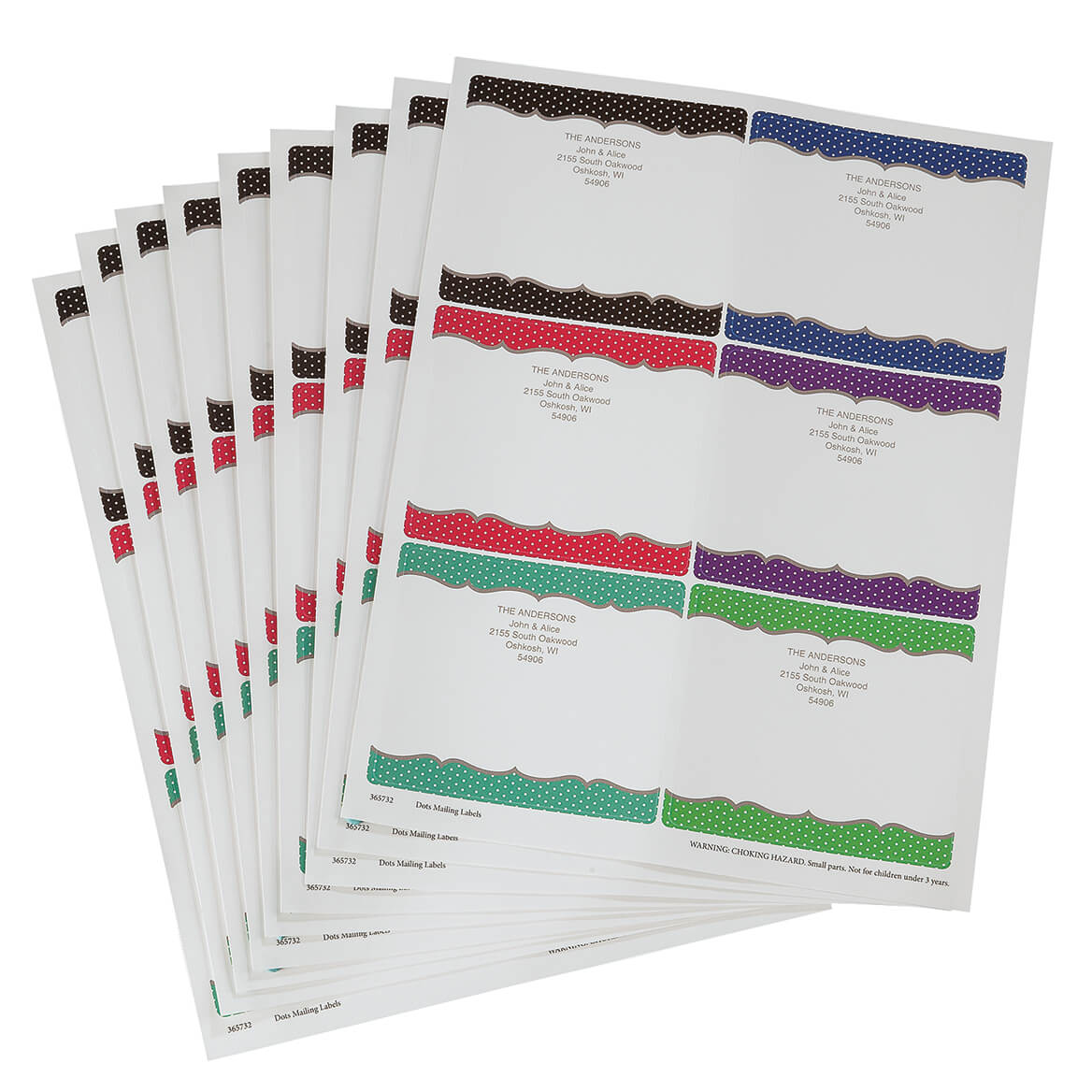 Personalized Dots Mailing Labels-365732