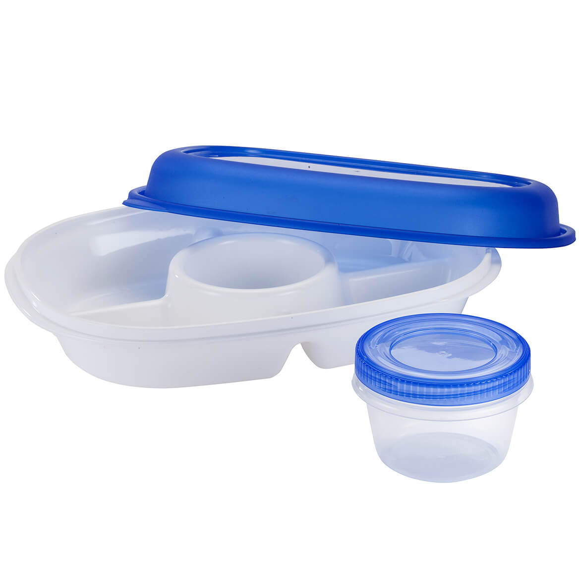 4-Section Covered Chip & Dip with Bonus 1-qt. Container-367548