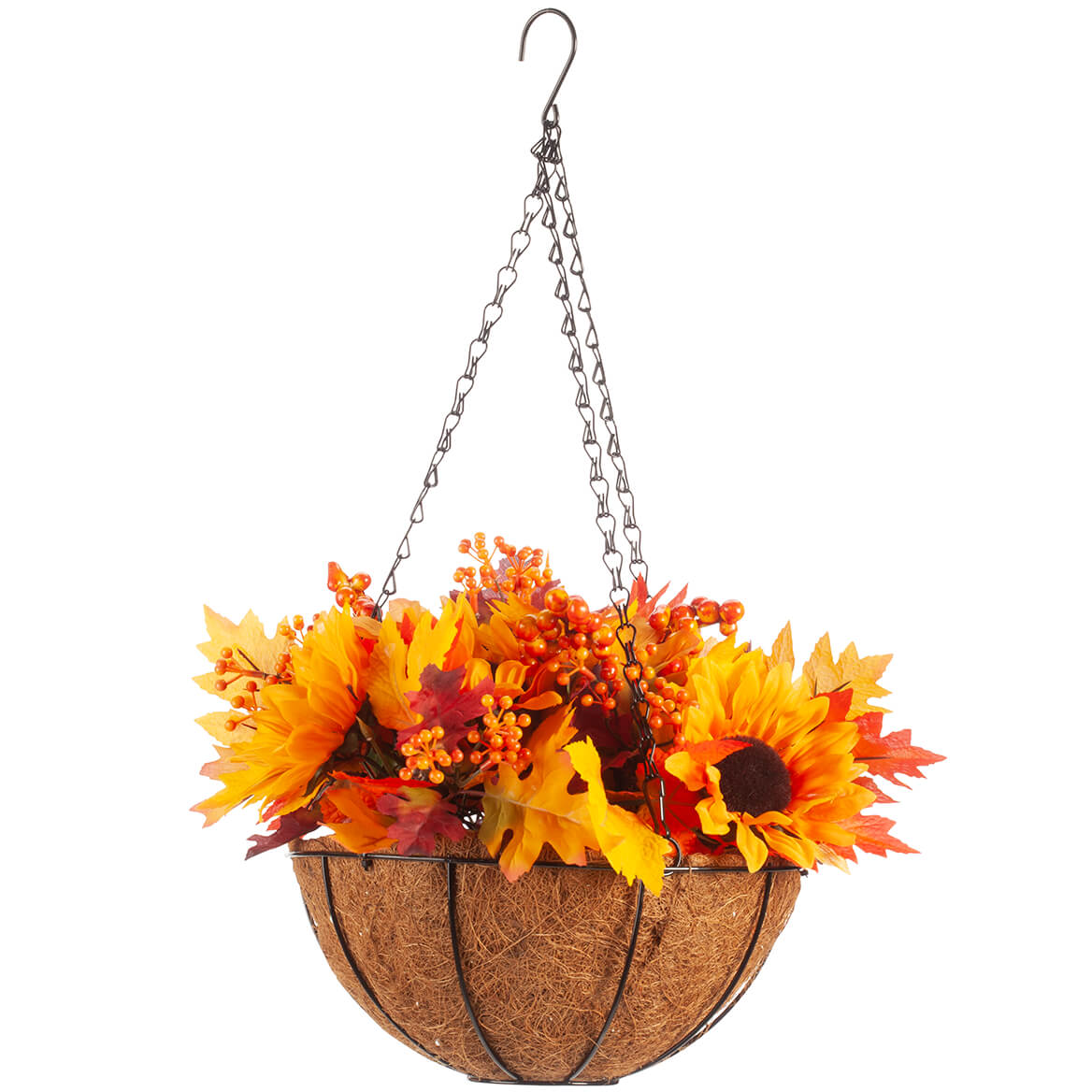 Fully Assembled Fall Floral Mix Lighted Basket by OakRidge™-367606