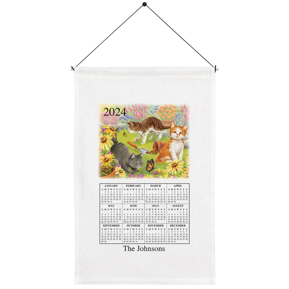 Personalized Playful Kittens Calendar Towel-367668