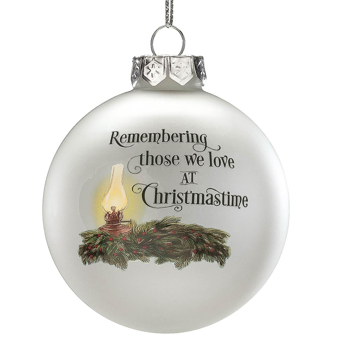 Memorial Christmas Ornaments.Empty Chair Memorial Glass Ball Ornament