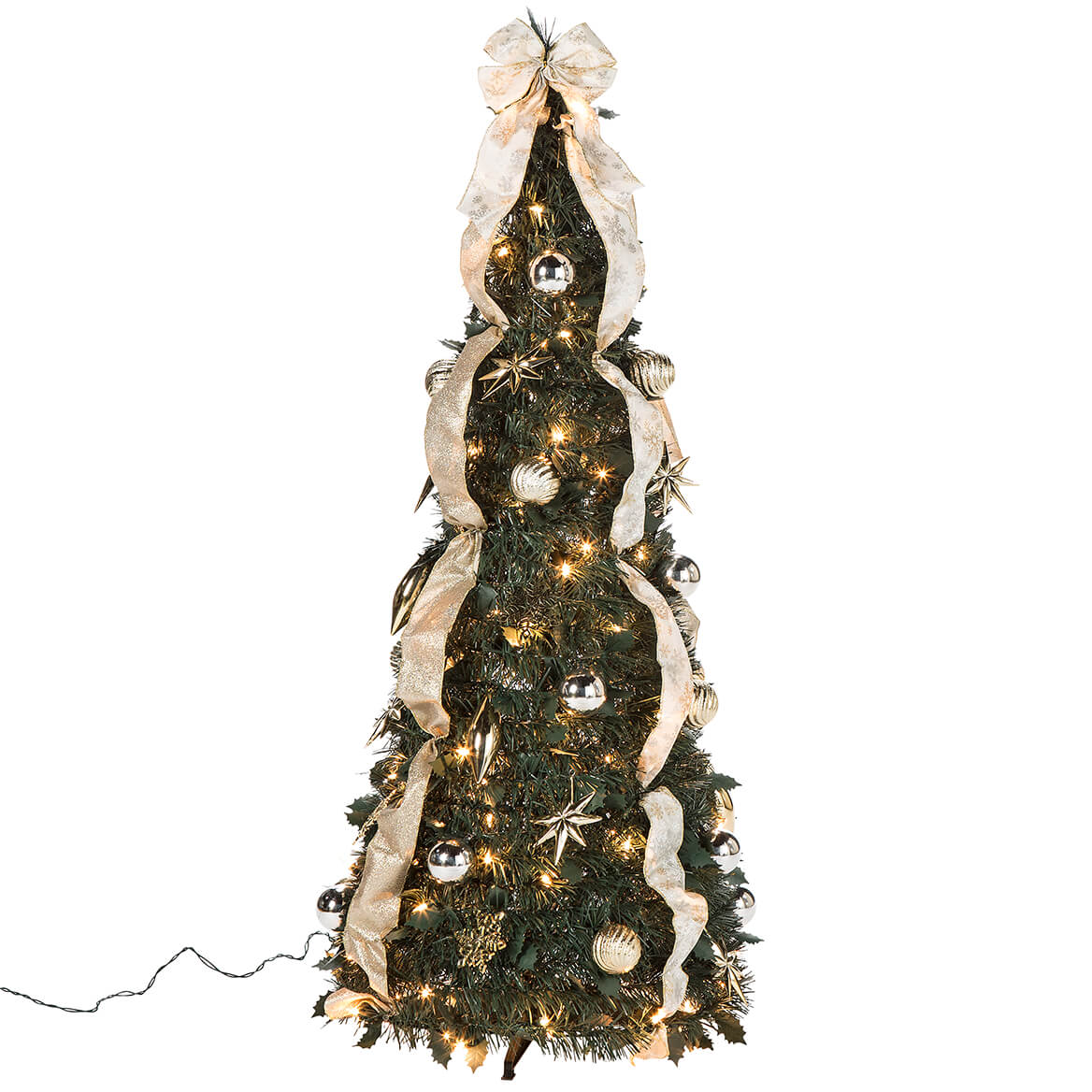 4' Silver & Gold Pull-Up Tree by Holiday Peak™-368086