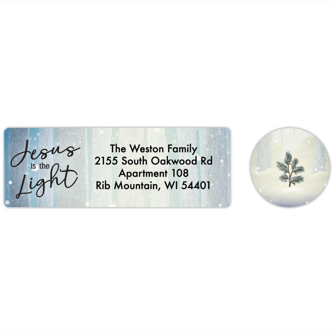 Personalized He is the Light Labels & Seals 20-368275