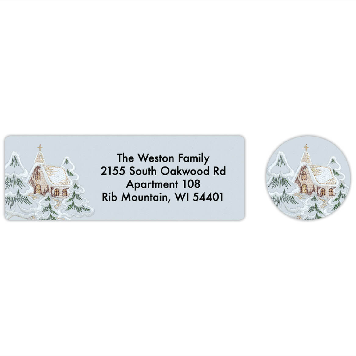 Personalized Embroidered Chapel Labels & Seals 20-368281