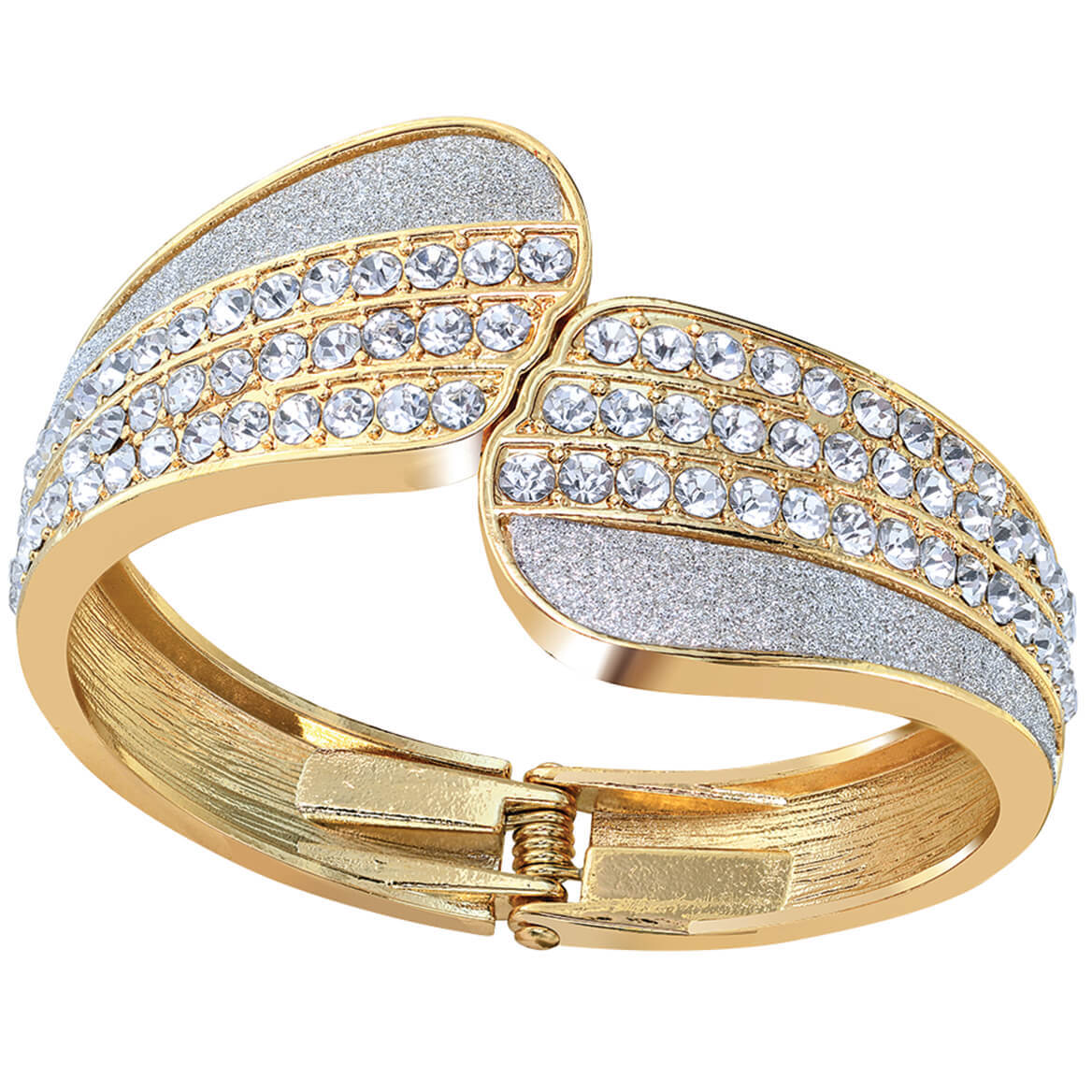 Goldtone Bangle Crystal Bracelet and Purse Hanger-369076