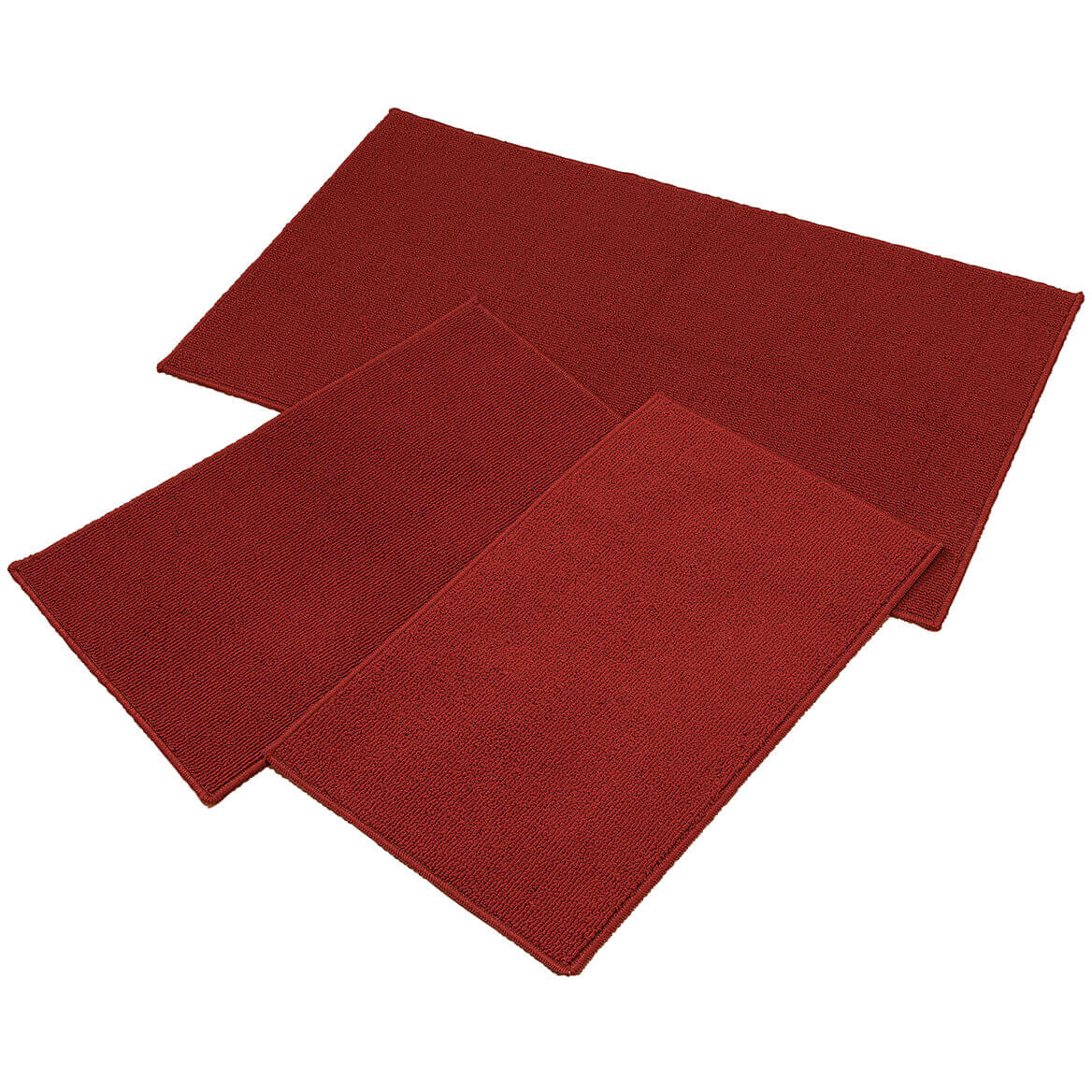 Rugby Solid Colored Rug by Oakridge®, Brick Set of 3-369097