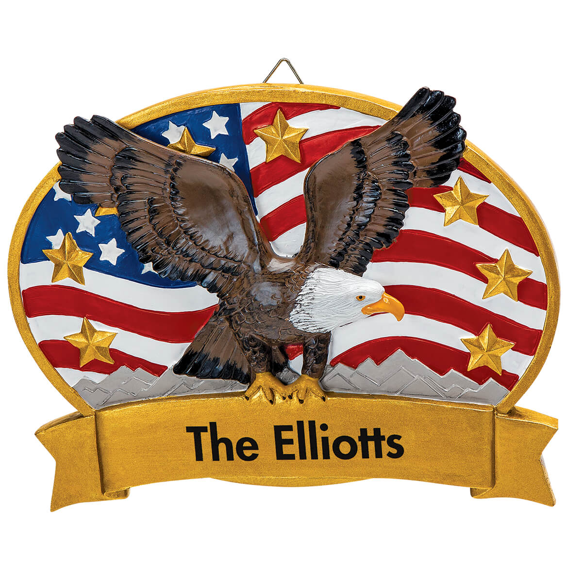 Personalized Patriotic Eagle Plaque-369152