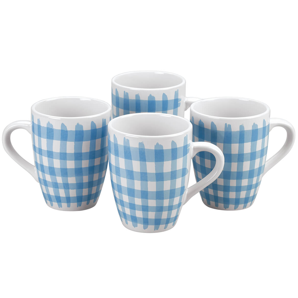 Blue Shirt Mugs by William Roberts, Set of 4-369198