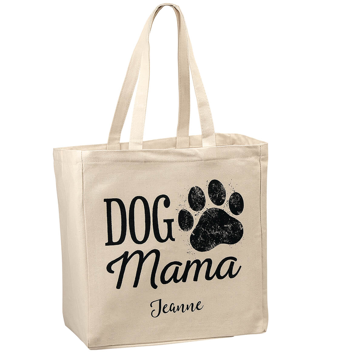 Dog Mom Pawprint Classic Tote Bag