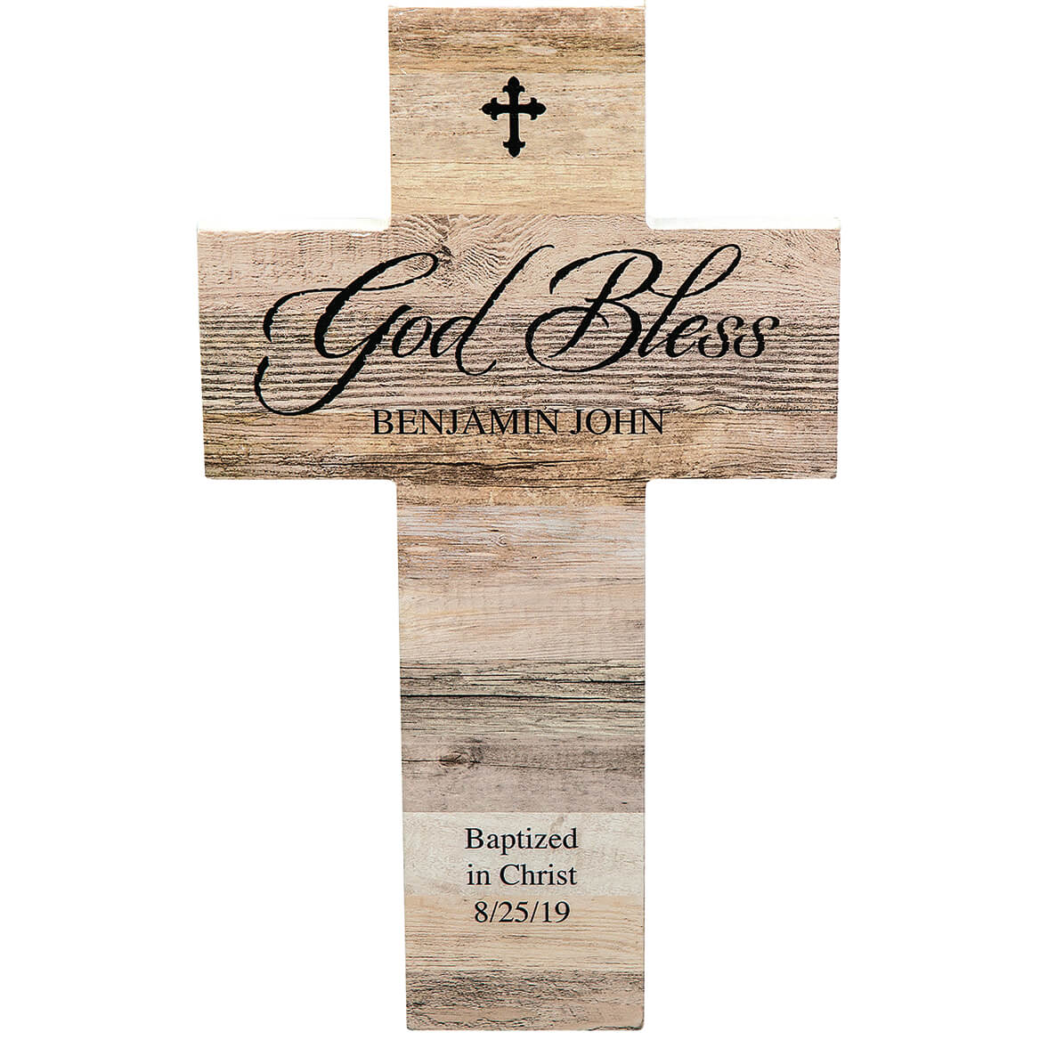 Personalized Rustic Style Cross, God Bless-369432