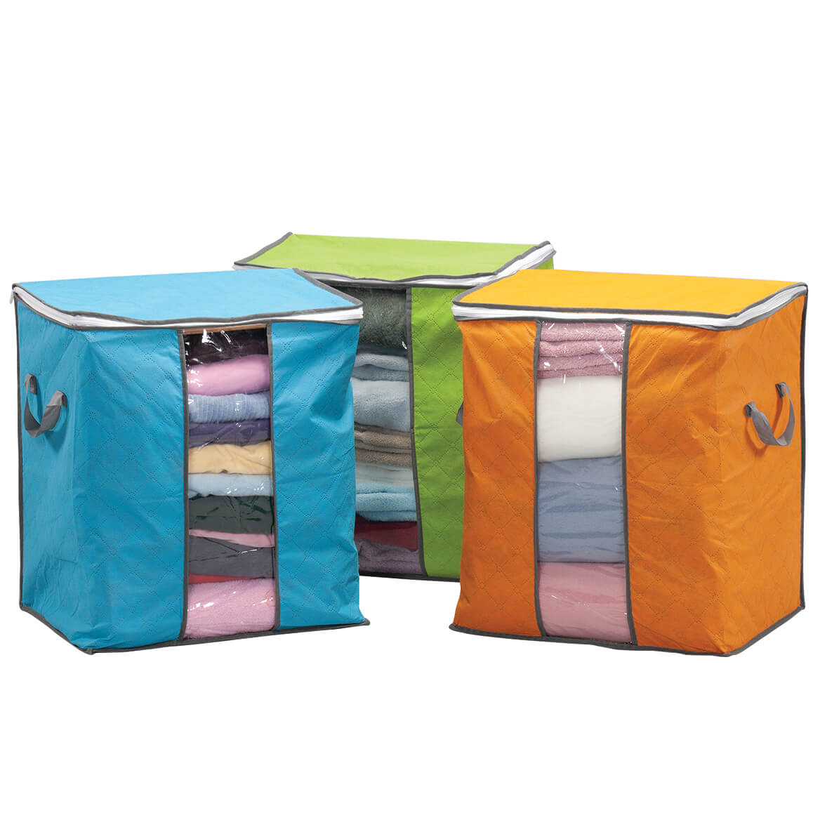 Anti-Dust Quilted Clothes Organizers Set of 3-369588