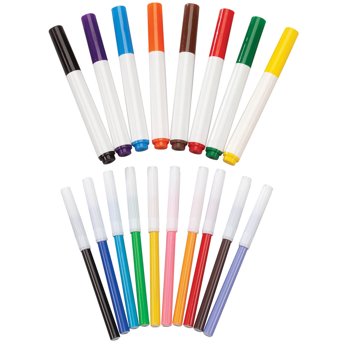 Broad and Fine Line Markers, Set of 18-370334
