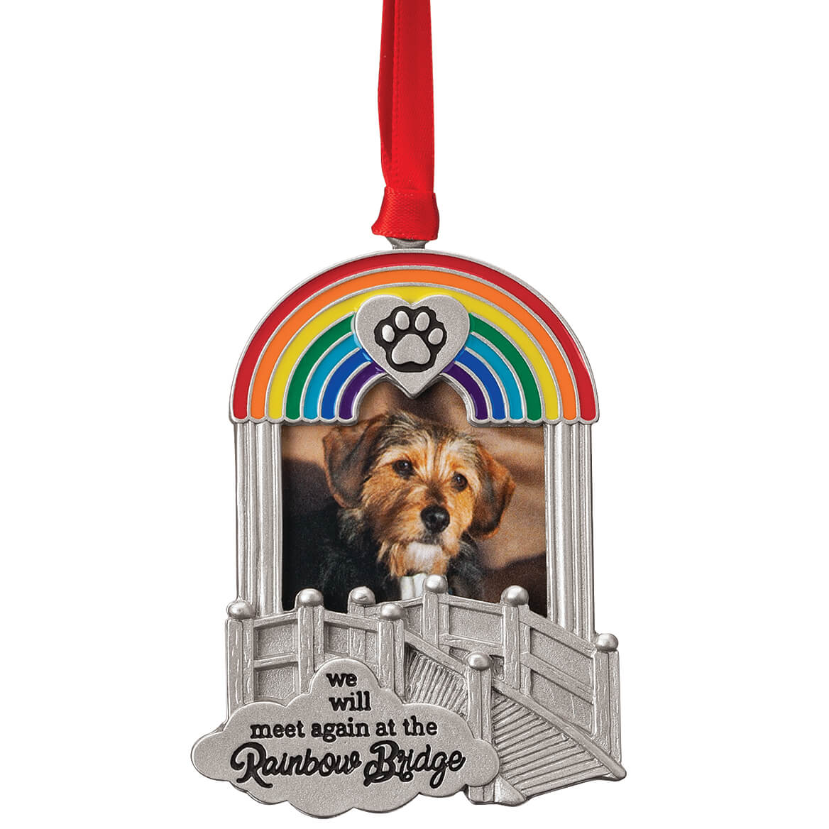 Pewter Rainbow Bridge Frame Ornament-370707