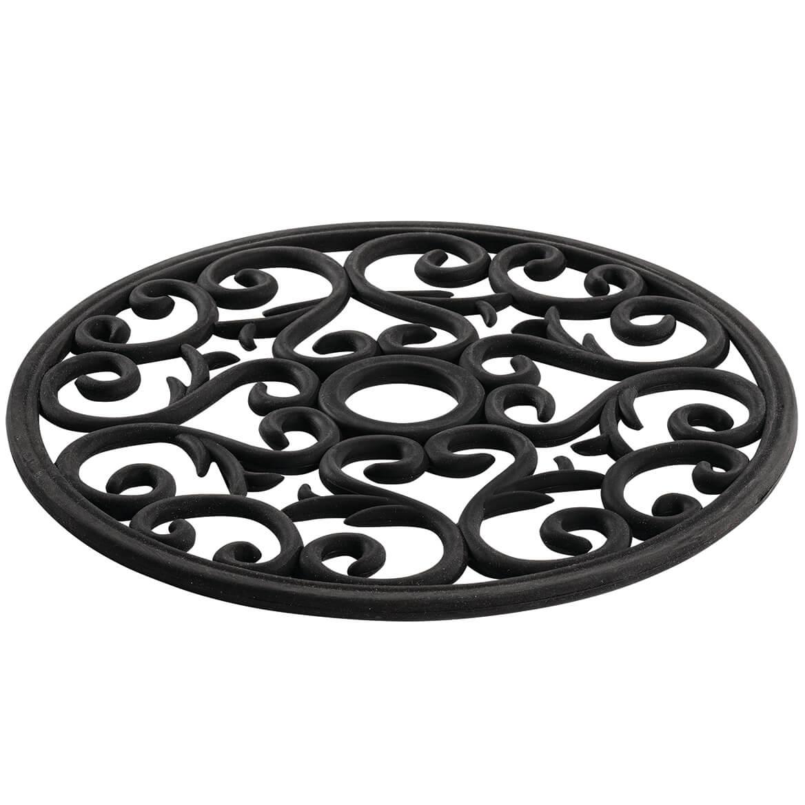 Black Scroll Silicone Trivet-371122