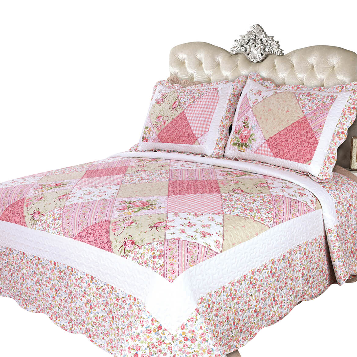 Emily's Rose 3-Piece Quilt Set-371237