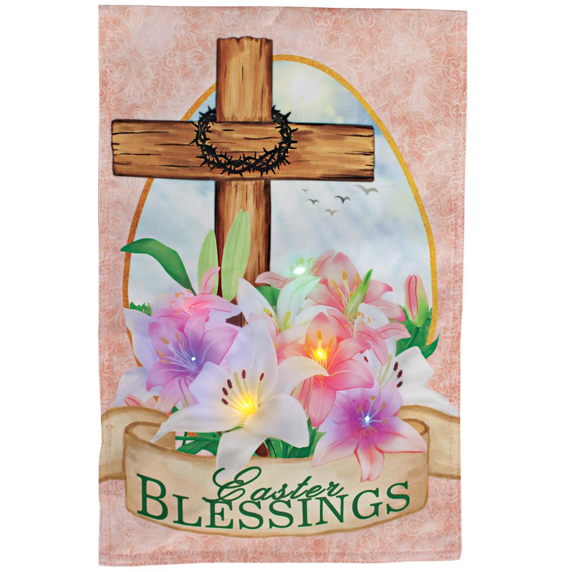 Easter Blessings Lighted Garden Flag-371238