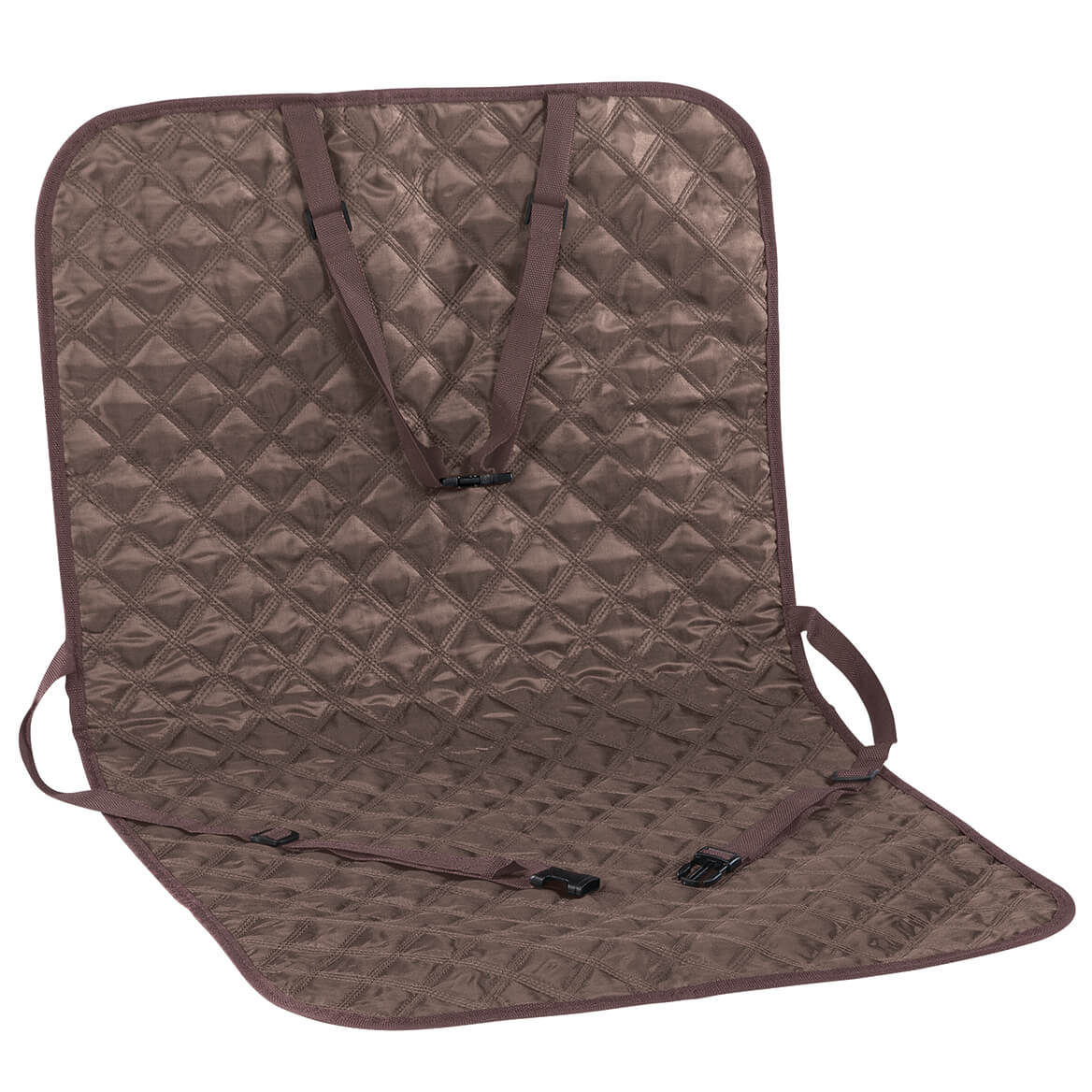 Brown Quilted Car Seat Protector-371335