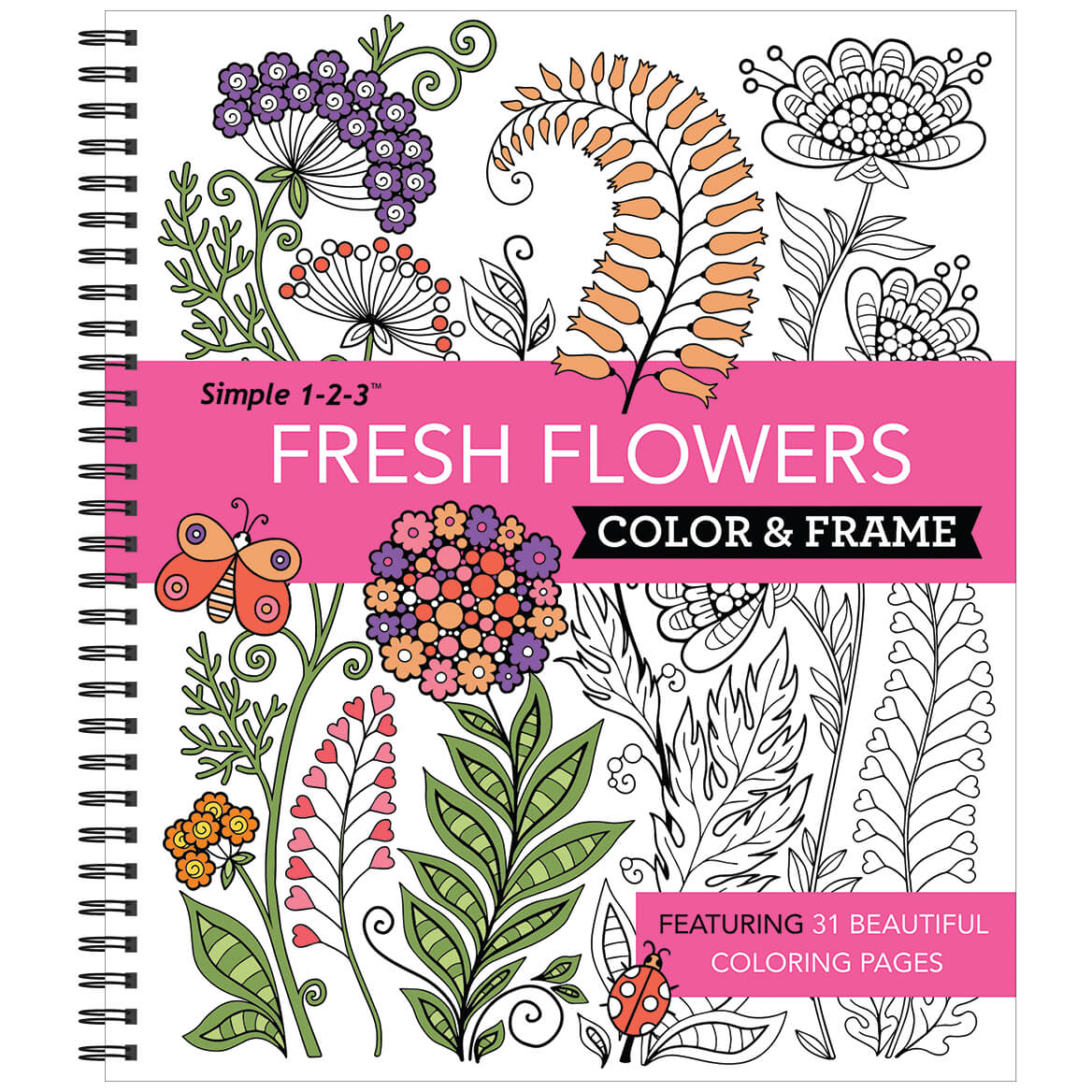 Simple 1-2-3™ Fresh Flowers Color & Frame Book-371541