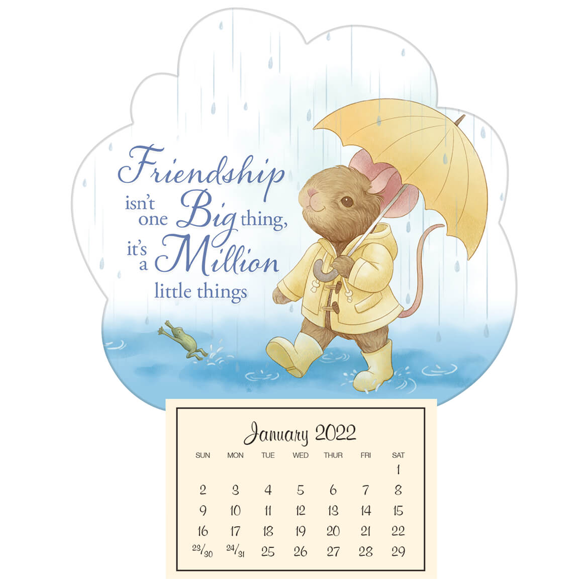 Friendship Mini Magnetic Calendar-371789