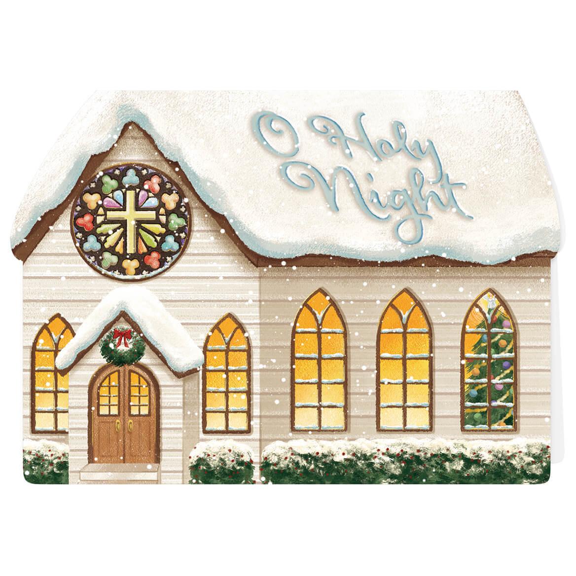 Die Cut Chapel Christmas Card Set of 20-371899