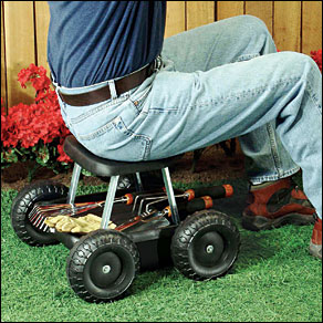 garden scooter garden seat on wheels outdoor walter