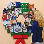 Cardboard Wreath Christmas Card Holder