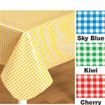 Gingham Oilcloth 47.5 x 84 Inch