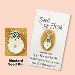 Heart to Dove Mustard Seed Necklace