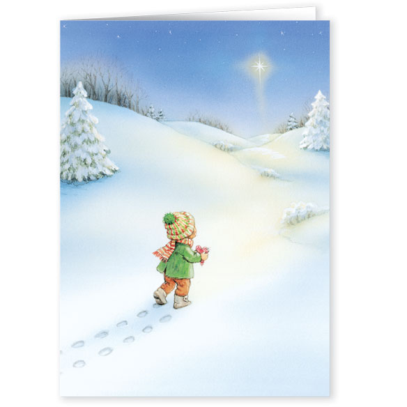 Footprints Christmas Card Set of 20 - View 2
