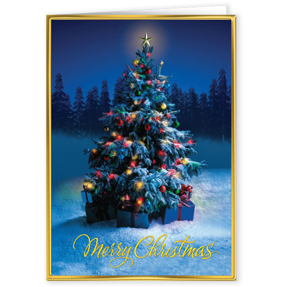 Friendship Tree Greeting Christmas Card - View 2