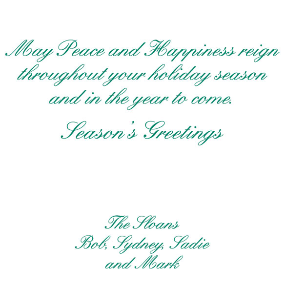 Peace Christmas Card - View 3