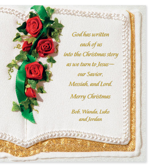 Personalized Family Bible Christmas Cards