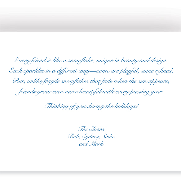 Personalized Snowflake Christmas Cards - View 3