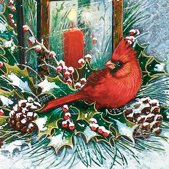 Cardinals and Lantern Set of 20