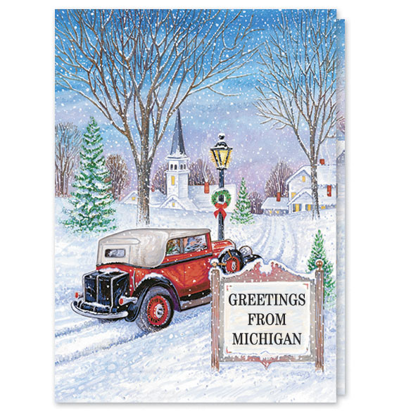 Antique Auto Christmas Card Set/20 - View 1